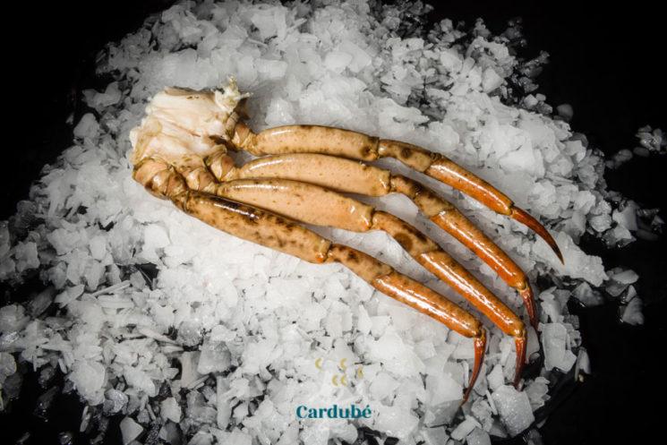 Cuerpos de cangrejo cocidos